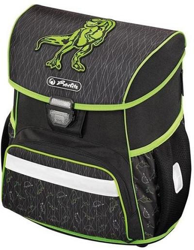 ghiozdan herlitz loop green dino ergonomic