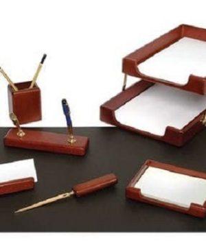 set de birou lemn maro