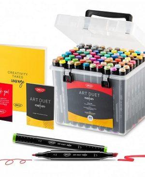 marker grafic art duet daco 80 culori