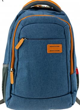 Ghiozdan laptop Daco 46 cm albastru portocaliu
